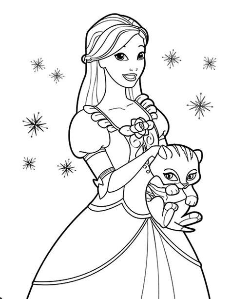 barbie cat coloring pages free printable coloring renaissance art pages 89 for