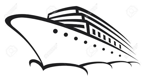 boat cartoon images black and white cruise clipart black and white