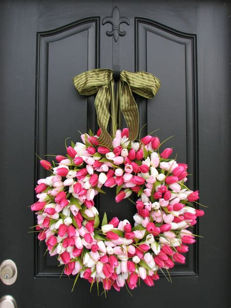 easter wreaths for front door wreath tulips front door wreath door wreaths tulips