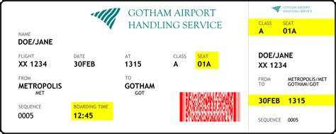 flight reference card template file boarding card text as paths and barcode svg