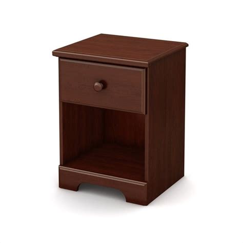 Decorative Coat Hooks For Wall South Shore Summer Breeze Night Stand In Royal Cherry