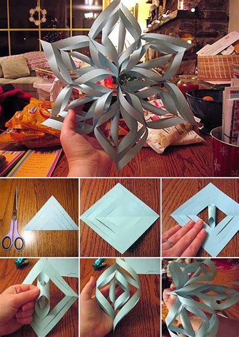 How To Make Paper Snowflake Decorations - wonderful diy paper snowflakes with pattern