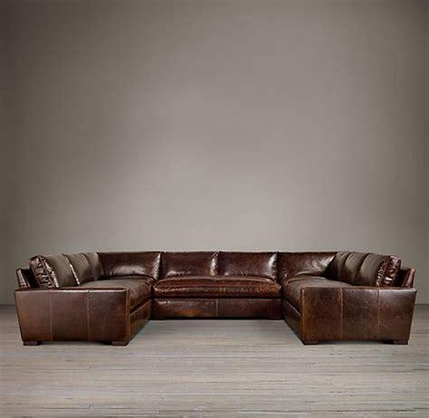 u shaped sectional sofa restoration hardware leather sectionals restoration hardware and u shaped