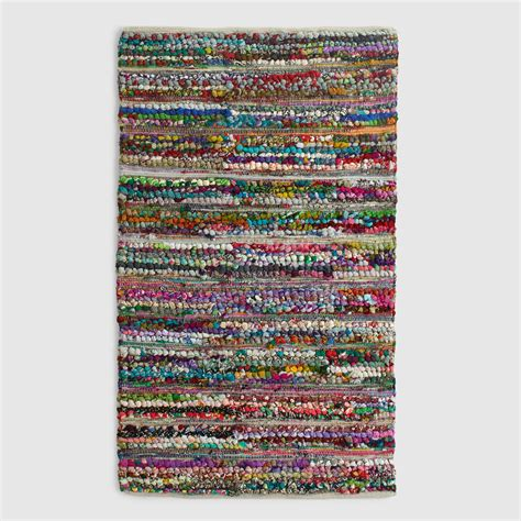 chindi rug world market 3 x5 blue multicolor loop chindi rug world market