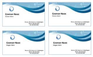business card templates for word sle business card templates free printable