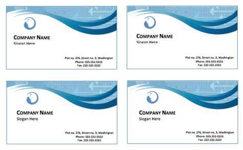 sle business card templates free printable