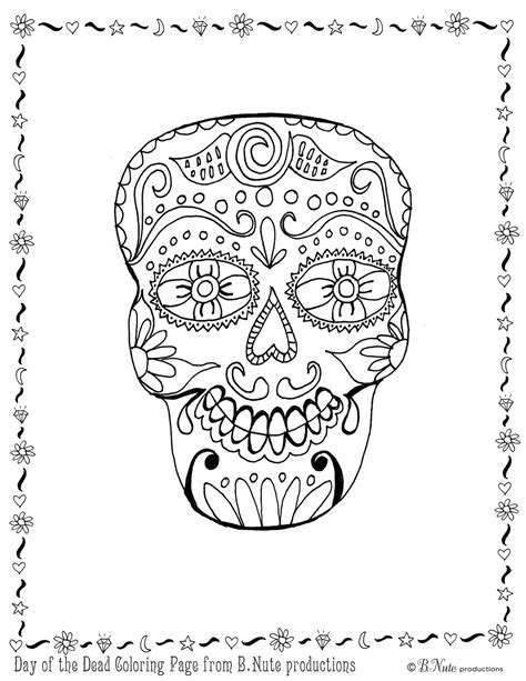 free coloring pages of day of the dead