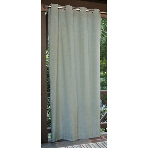 Outdoor Patio Curtains Shop Allen Roth 108 In L Aqua Patio Curtains Outdoor Window Curtain Panel At Lowes