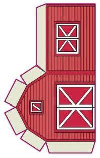 Barn Template by Printable Barn Paper On The Farm Theme
