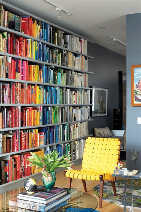 color coordinated bookshelf 10 ways to display art and collectibles rainbows books