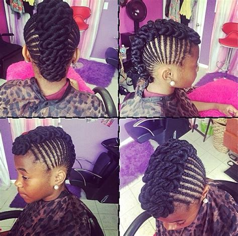 natural hairstyles for 11 year olds braided mohawk mini manes pinterest braided mohawk