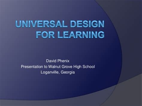 universal design for learning powerpoint presentation universal design for learning presentation