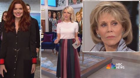jane fonda gossip latest news photos and video jane fonda is megyn kelly s latest awkward interview youtube