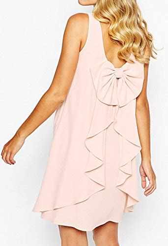 idifu s sweet layered bow a line chiffon tank dress