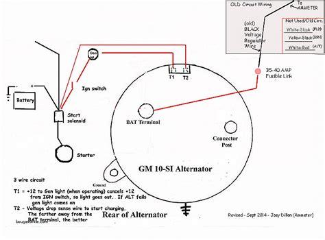 one wire alternator diagram gm 1 wire alternator wiring diagram wiring diagram