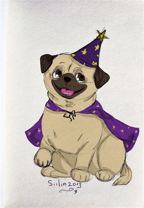 wizard pug pug wizard by siilin on deviantart