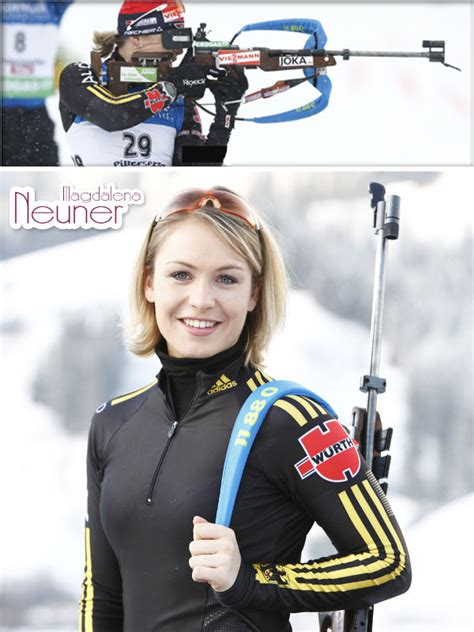 Lanny Barnes Magdalena Neuner Named Germany S Female Athlete Of The