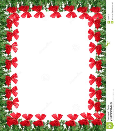 card frames templates pine boughs greeting card border stock photo image of bows