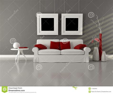 Modern Red Vase Gray White And Red Minimalist Living Room Stock Images