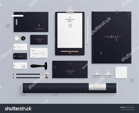 template mockup card set premium corporate identity template set business stock