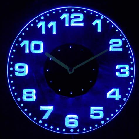 in light clock neon light up wall clocks