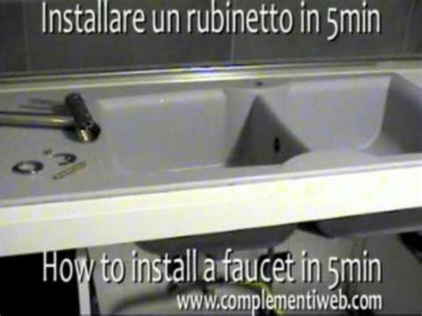 How To Remove Kitchen Faucet by Montare Installare Rubinetto Miscelatore Install Kitchen