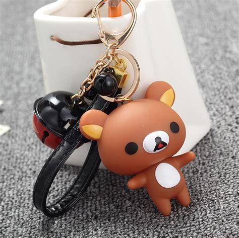 Rilakkuma Bag Charm Key Chain Gantungan Hp new rilakkuma small bell keychain keyring pendant novelty personality bag