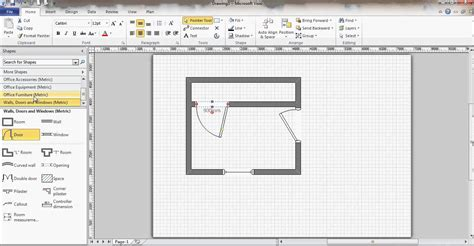 Visio Floor Plans by Microsoft Visio Floor Plan Youtube