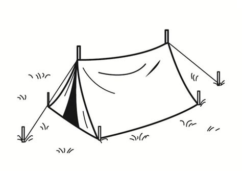 Tent Coloring Page tent coloring pages 11