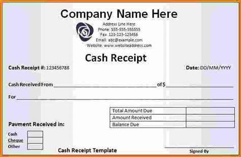 receipt template for ad 8 receipt template word expense report