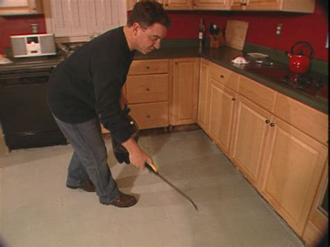 diy kitchen floor how to install a skim coat for a concrete floor how tos