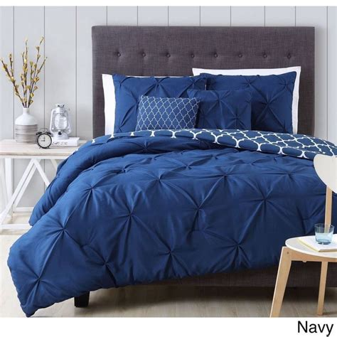 blue pintuck comforter 1000 ideas about navy blue comforter on pinterest