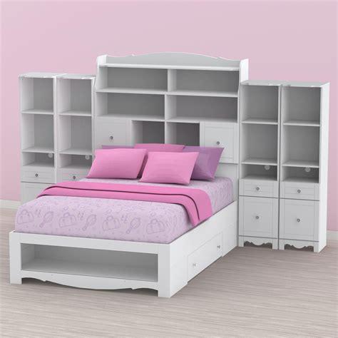 bookcase storage bed full nexera pixel youth full size tall bookcase storage bedroom