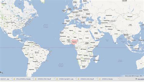 nigeria map  nigeria satellite image