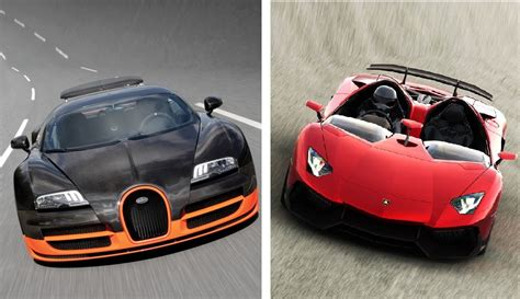 Which Is Better Bugatti Or Lamborghini 2014 Lamborghini Aventador J Vs 2014 Bugatti Veyron 16 4