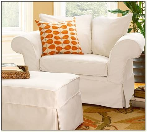 charleston slipcover chair and a half slipcover white chairs home