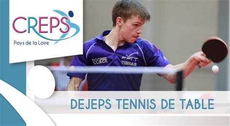 tennis de table pays de loire inscriptions formation dejeps nantes 2018 2019 tennis de