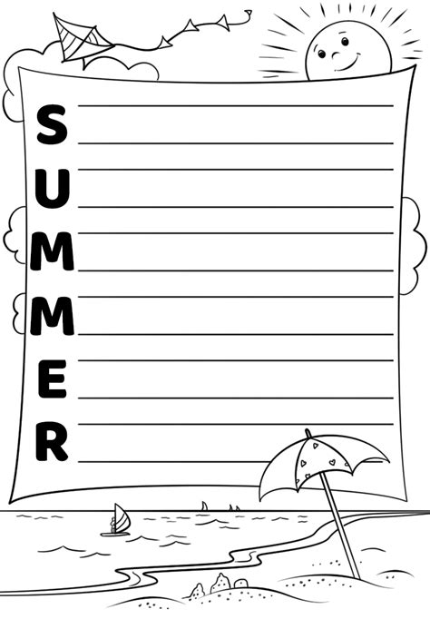 Summer Acrostic Poem Template Free Printable Papercraft Templates Acrostic Poem Template