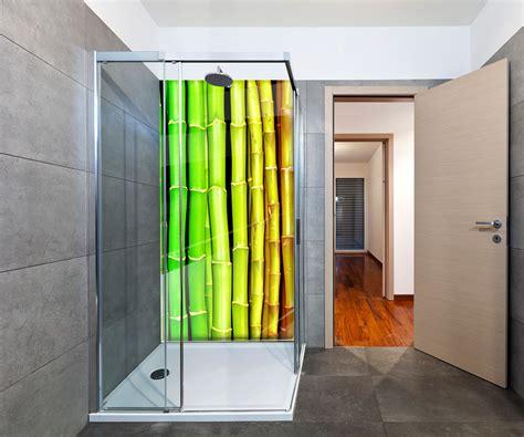 asien deko design duschr 252 ckwand bunter bambus asien deko design ebay