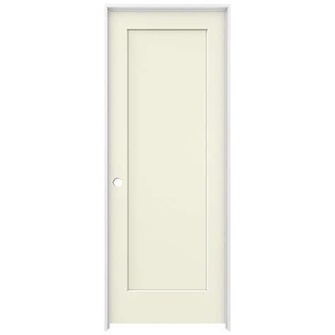 32 Prehung Interior Door Jeld Wen 32 In X 80 In Vanilla Painted Right Smooth Solid Molded Composite