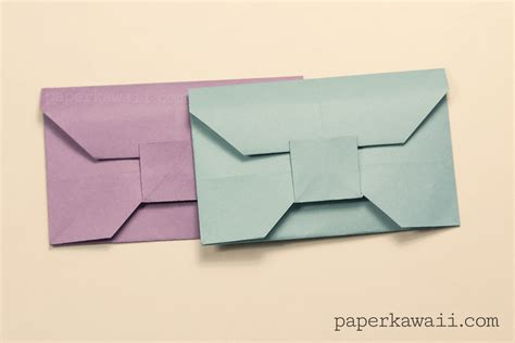 Envelope Origami - traditional origami envelope tutorial paper kawaii
