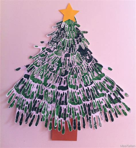 painted hand christmas trees flora brothers painting tree handprints