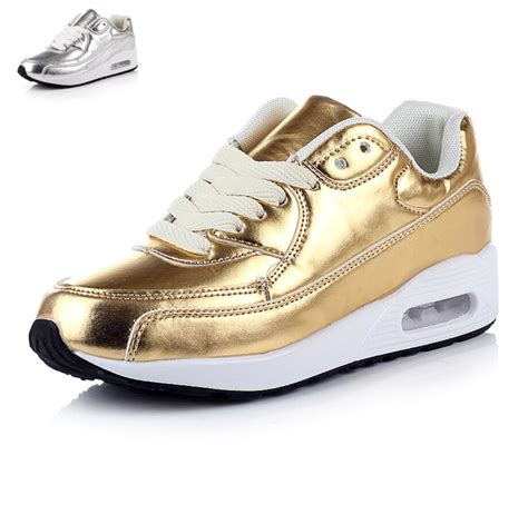 womens gold sneakers 2015 s sneakers fashion casual shoes silver gold
