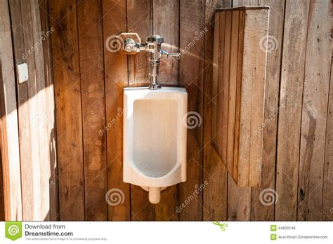 Modern Restrooms White Urinals In The Outdoor Restroom Stock Photo Image
