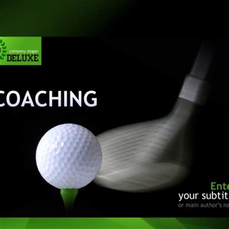 Golf Powerpoint Templates Golf Powerpoint Template