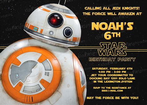 wars templates 20 bb8 wars the awakens birthday