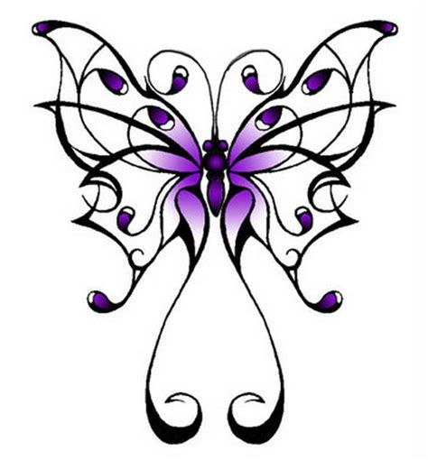 purple cross tattoo purple ink butterfly design