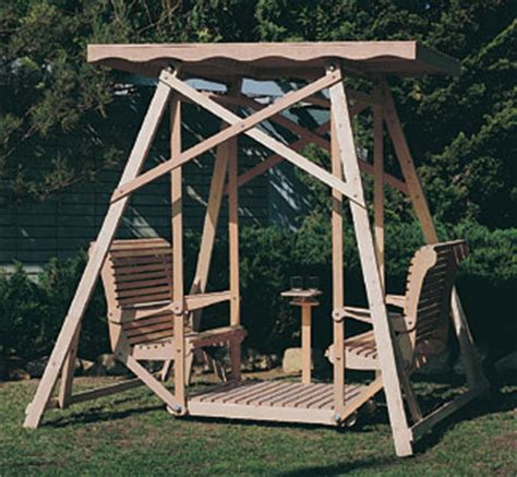 Backyard Swing Plans by Outdoor Furniture Plans Canopy Swing Wood Plans