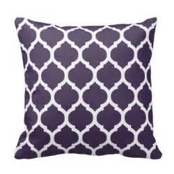 Bedroom Throw Pillows Purple And White Moroccan Lattice Throw Pillow Purple