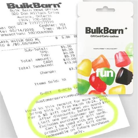 Gift Card Promotions Canada 2016 - bulk barn canada receipt coupon get a 5 gift card with a 15 purchase march 18th to